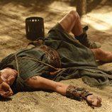 Paulo, tumbado en el suelo