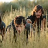 Paulo, Sandro, Darío y Héctor, espiando