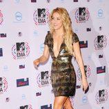 Shakira en la alfombra roja de los MTV EMA