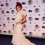 Rihanna posa en los MTV Europe Music Awards