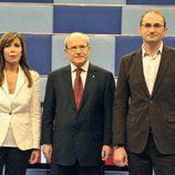 Alicia Sánchez-Camacho (PP), José Montilla (PSC) y Joan Herrera (ICV)