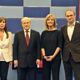 María Casado con los 3 candidatos a la presidencia de la Generalitat