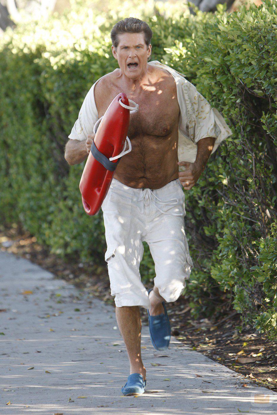 David Hasselhoff, vigilante de la playa