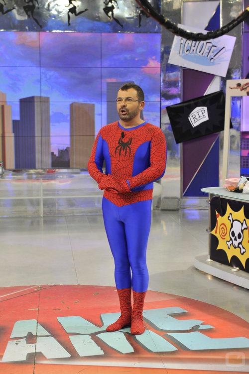 Jorge Javier Vázquez es Spiderman en 'Sálvame'