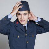 Ricardo Gómez con uniforme militar
