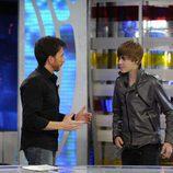 Justin Bieber con Pablo Motos
