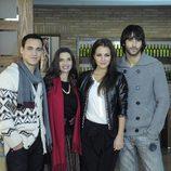 Ricard Sales, Ángela Molina, Paula Echevarría y Aitor Luna