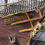 Uno de los barcos de 'Piratas', rodada en Galicia