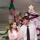 Dwight Schrute, Pam Beesly y Jim Halpert en 'The Office'