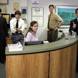 Ryan, Jim, Pam, Dwight y Michael de 'The Office'