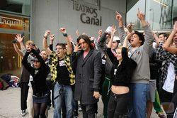 Rafa Méndez con algunos candidatos a entrar en \'Fama, ¡a bailar!\'