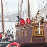 Popa del galeon de 'Piratas'