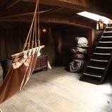 Escalera hacia la cubierta del barco