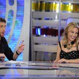 Kylie Minogue ríe con Pablo Motos