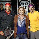 Roger Federer, David Bisbal y rafa Nadal