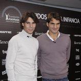 Rafa Nadal y Roger Federer