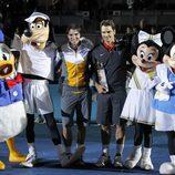 Nadal y Federer con los personajes de Walt Disney
