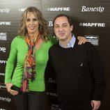 Miriam Díaz Aroca y el actor Jorge Roelas