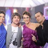 Dani Martín con los profesores de 'Fama'