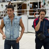 Luis Callejo y Mario Casas, padre e hijo en 'El barco'