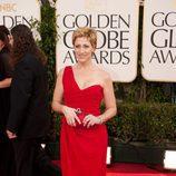 Edie Falco en los Globos de Oro 2011