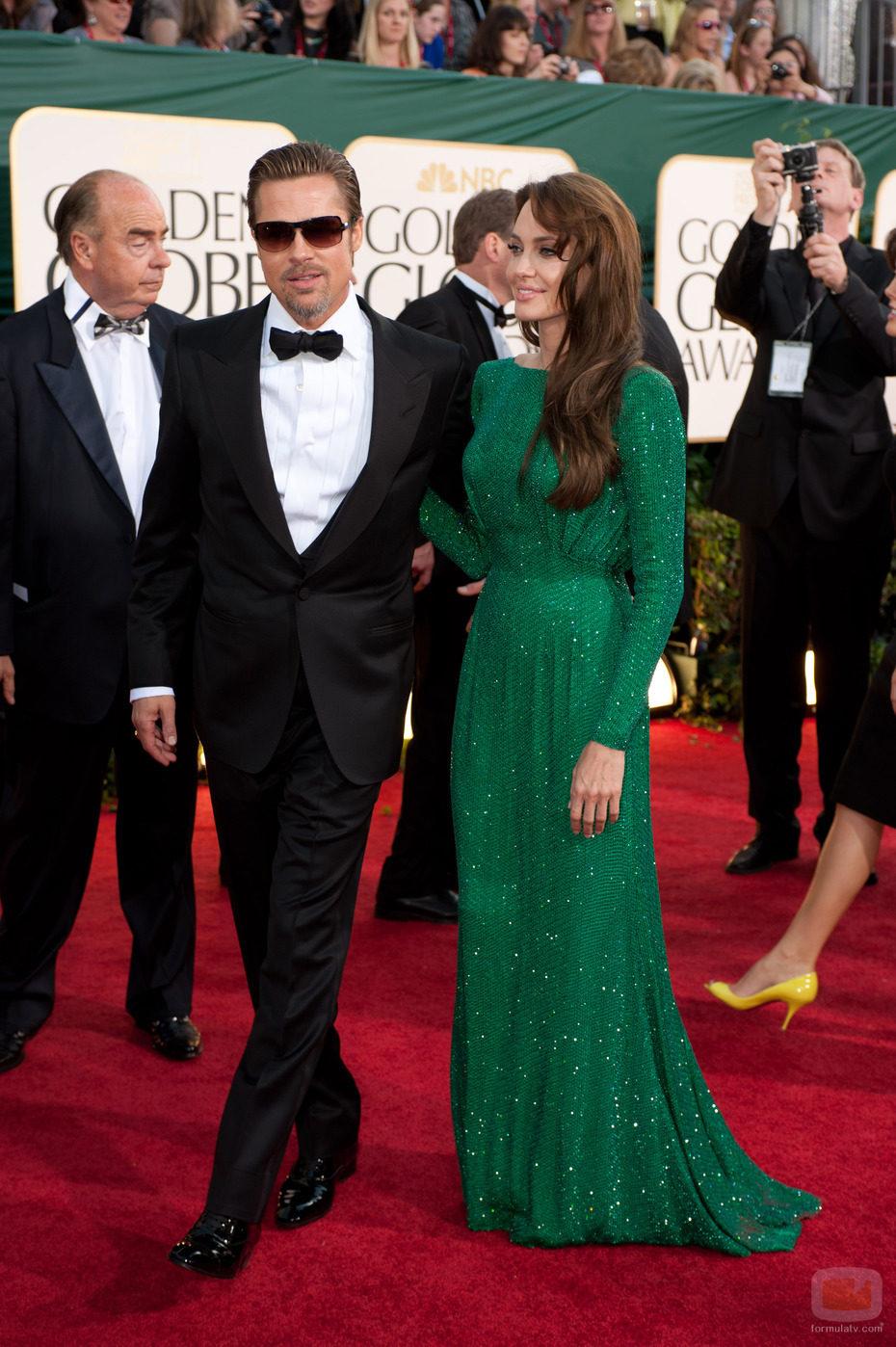Brad Pitt y Angelina Jolie en los Globos de Oro 2011