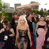 Christina Aguilera en los Globos de Oro 2011