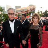 Jane Fonda y Richard Perry en los Globos de Oro 2011