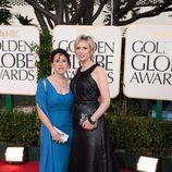 Jane Lynch en los Globos de Oro 2011