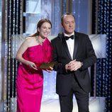 Julianne Moore y Kevin Space durante la gala