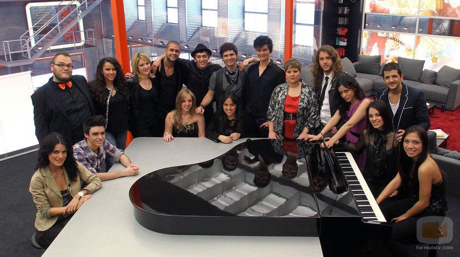 Los concursantes de 'Operación Triunfo' en la Academia