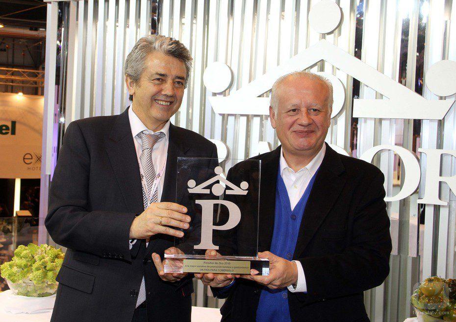 Juan Echanove recibe el premio Parador de Oro