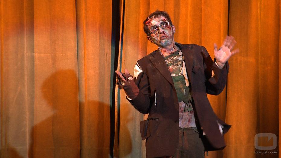 Berto Romero, caracterizado como un zombi para su nueva serie