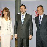 Gloria Lomana, Mariano Rajoy y Silvio González