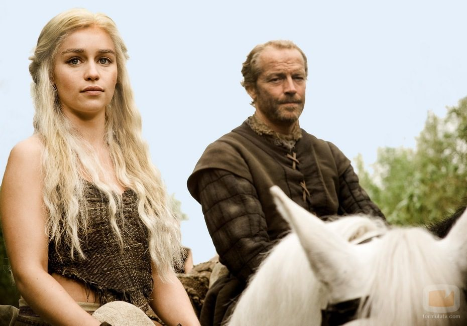 Daenerys y Ser Jorah Mormont en 'Juego de tronos'