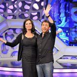 Jane Badler y Pablo Motos, en 'El hormiguero'