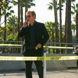 Horatio, tras al cordón policial, en 'CSI: Miami'