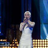Soraya Arnelas cantando en Destino: Eurovisión