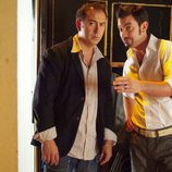 Arturo Valls junto con otro personaje en la serie 'Gominolas'