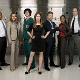 El elenco protagonista de 'El cuerpo del delito'