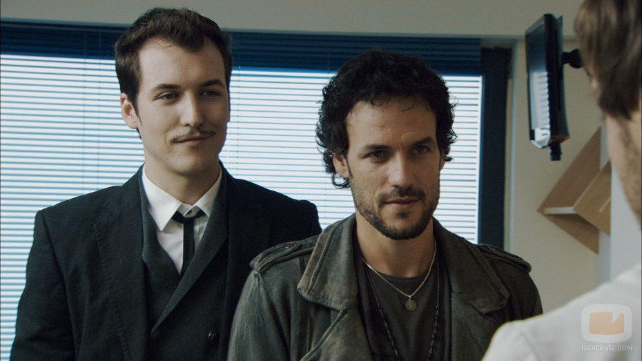 Jorge Suquet junto a Daniel Grao en 'Ángel o demonio'