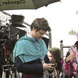 Diego Martín en un descanso del rodaje de 'Doctor Mateo'