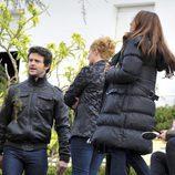 Diego Martin y Natalia Verbeke en el rodaje de 'Doctor Mateo'