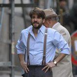 Félix Gómez durante el rodaje de '14 de abril. La República'