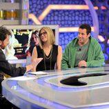 Pablo Motos, Jennifer Aniston y Adam Sandler
