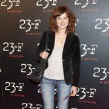 Marian Aguilera en la presentación de '23-F'
