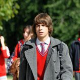 Lucas con el uniforme del colegio