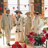 Algunos componentes de la familia Crawley en 'Downton Abbey'