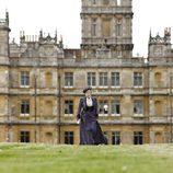 Maggie Smith en los exteriores de 'Downton Abbey'