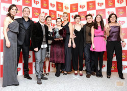 El elenco de \'Amar en tiempos revueltos\' en los TP de Oro